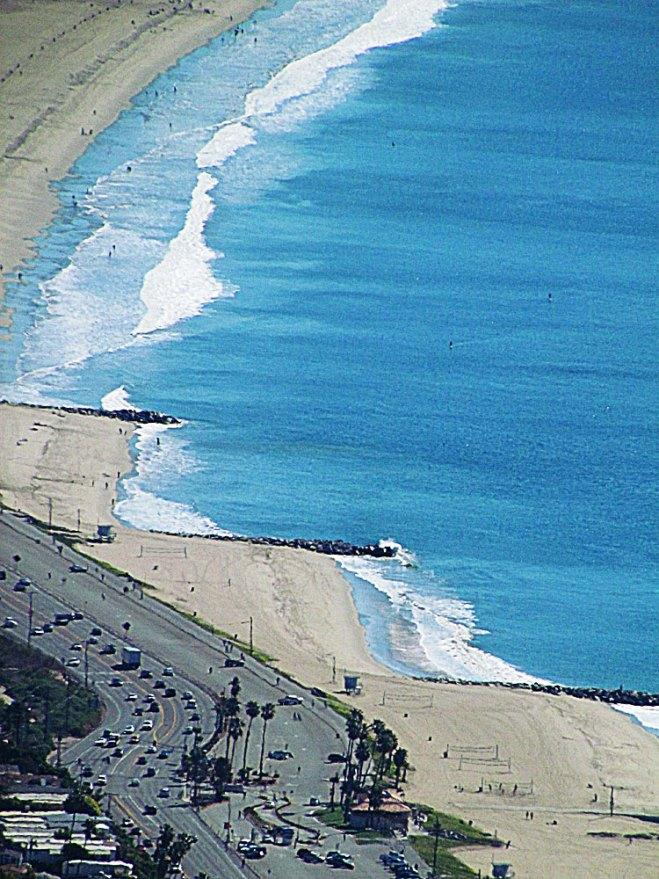 parker mesa view of santa monica beach