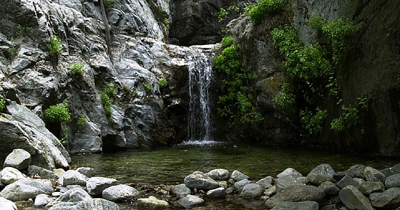 Waterfall along San Gabriel River