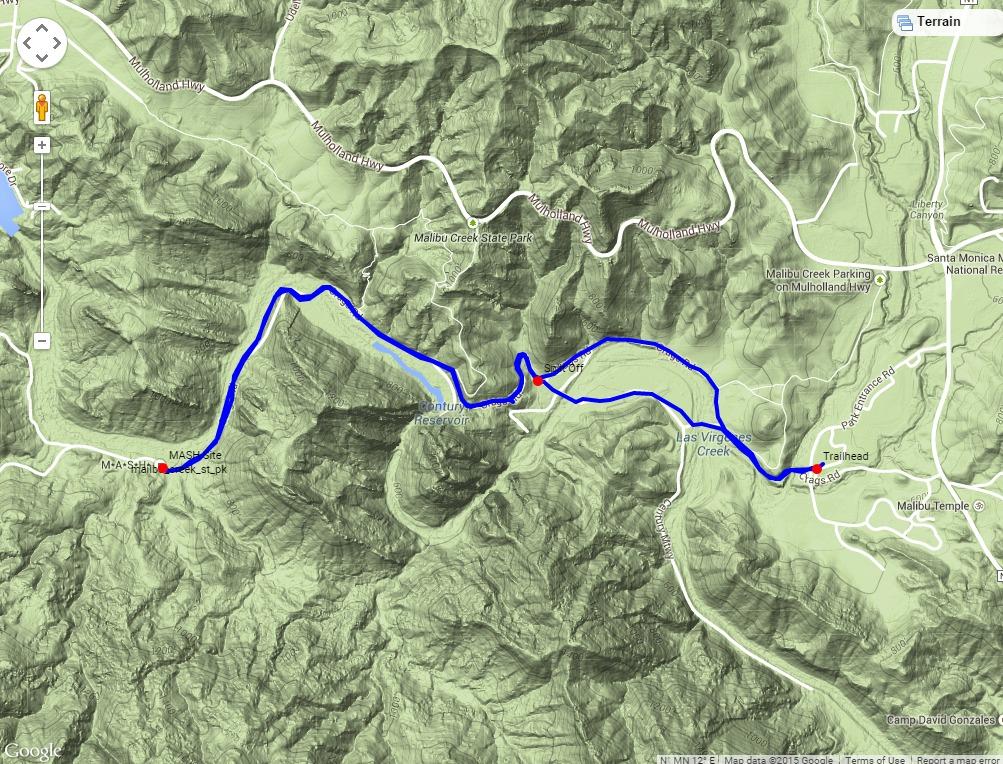 Malibu Creek To Mash Site My Favorite Hikes: Malibu State Park Map At Usa Maps