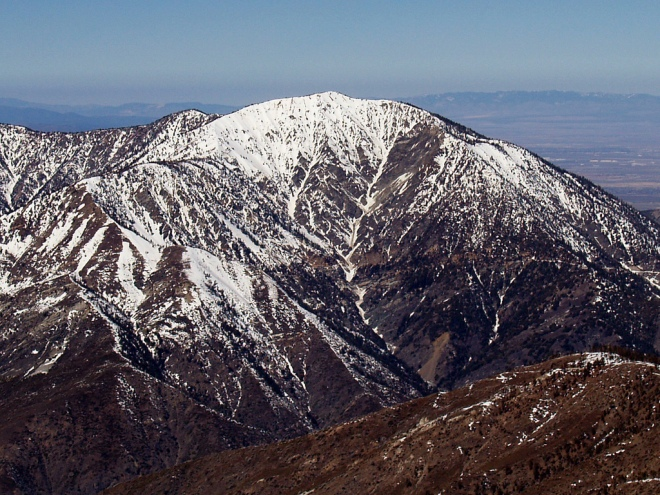 mount baden powell in snow