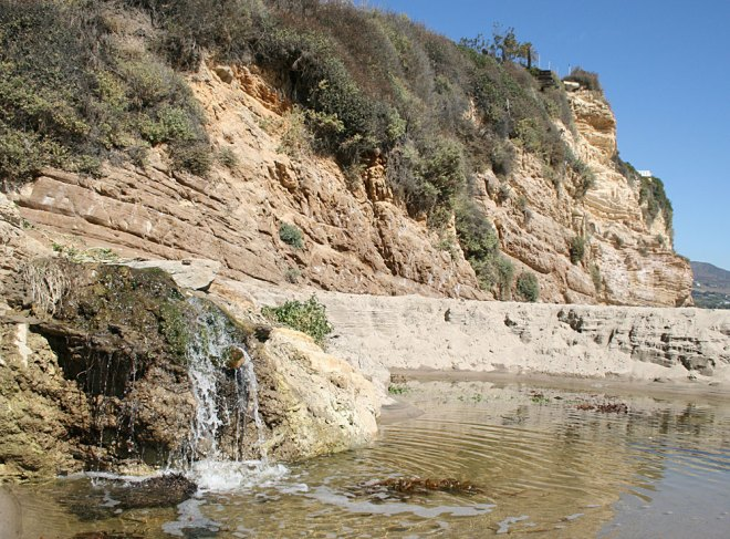 waterfall at point dume