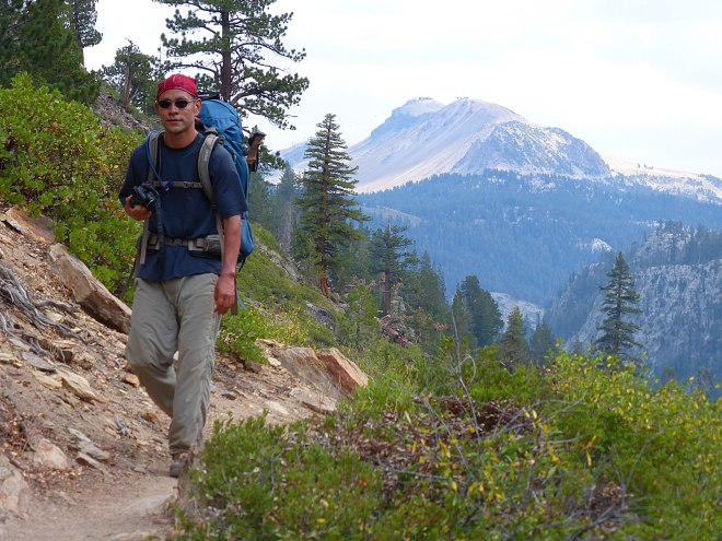 Hiking down from Agnew Meadows