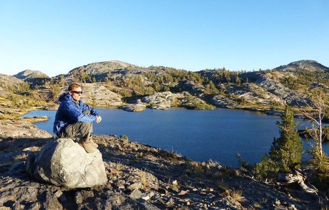 Ken at relaxing at Thousand Island Lake