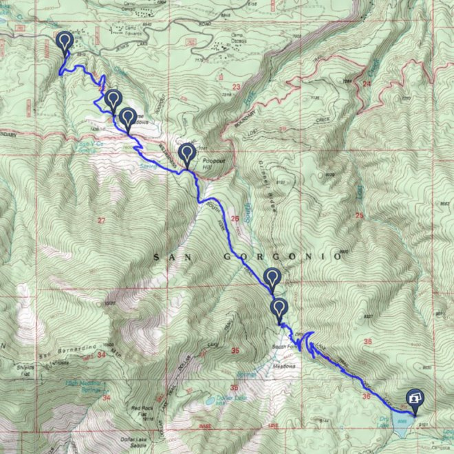dry lake route map
